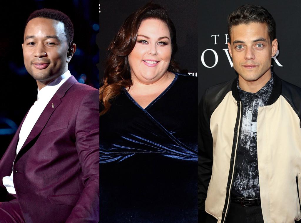 John Legend, Rami Malek, Chrissy Metz