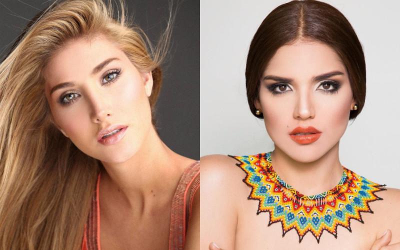 Mariam Habach, Miss Venezuela, Laura Barjum Miss Colombia