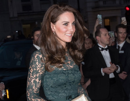 What A Gem Kate Middleton Glows In Green At 2017 Portrait