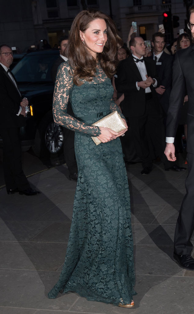What a Gem! Kate Middleton Glows in Green at 2017 Portrait Gala