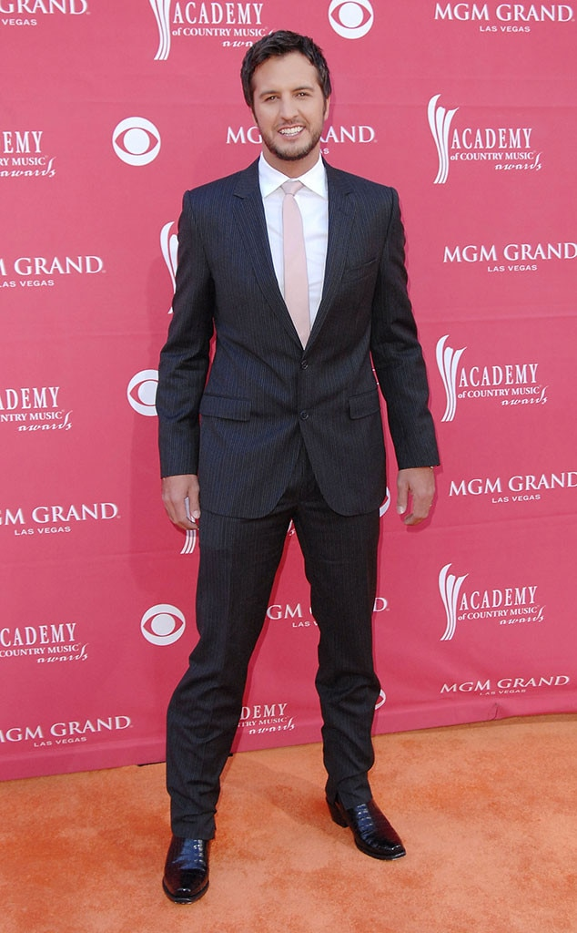 Luke Bryan -  The American Idol judge  walks the red carpet in one of his first ACM Award appearances.