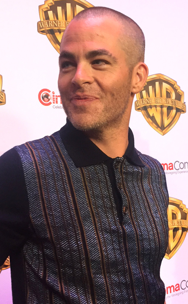 Chris Pine Is Now Practically Bald What Inspired His Newly Shaved Do E Online