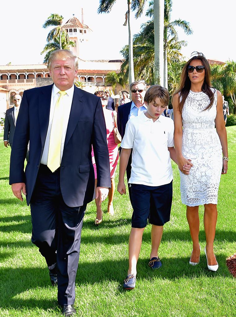 Melania Trump, Barron Trump, Donald Trump, Mar-a-Lago