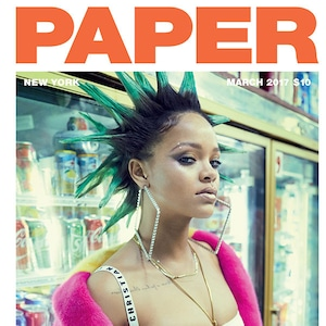 Rihanna, Paper, March 2017