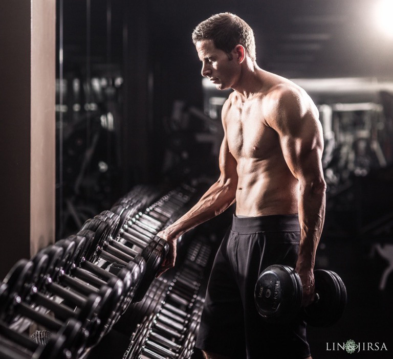 Tarek El Moussa, Workout Shoot