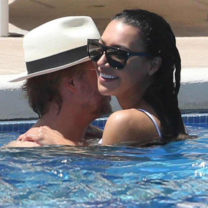 Rivera Pool naya rivera and david spade pda in a pool and fans are just