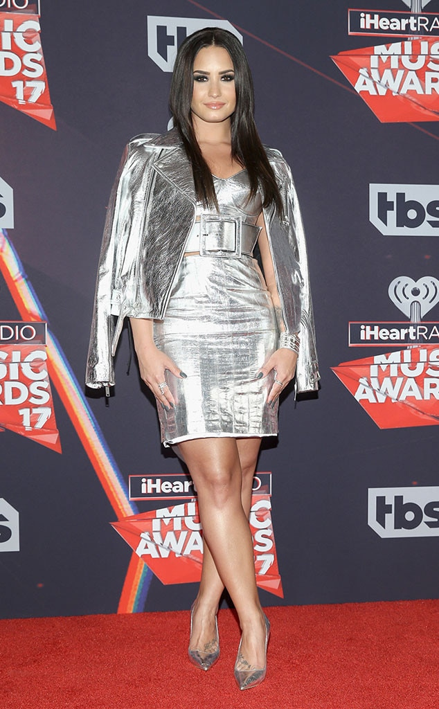 Demi Lovato From Iheartradio Music Awards 2017 Red Carpet