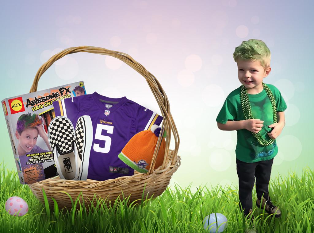 Celebrity Kids Easter Baskets, Axl Duhamel