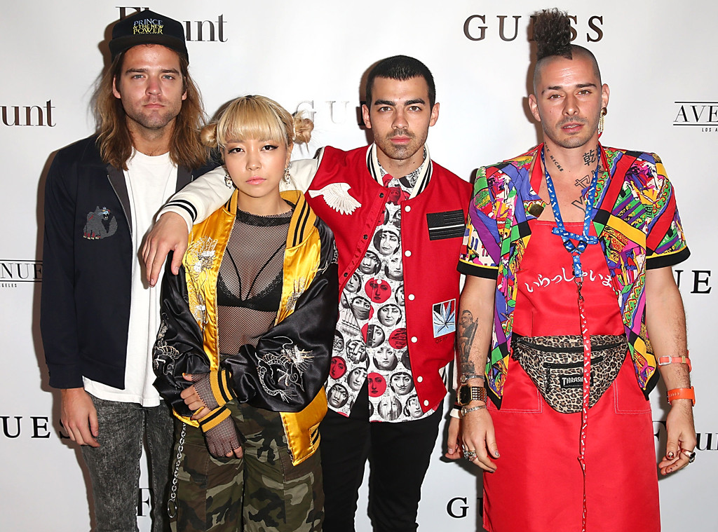 Jack Lawless, JinJoo Lee, Joe Jonas, Cole Whittle of DNCE