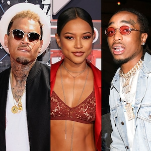Chris Brown, Karrueche Tran, Quavos