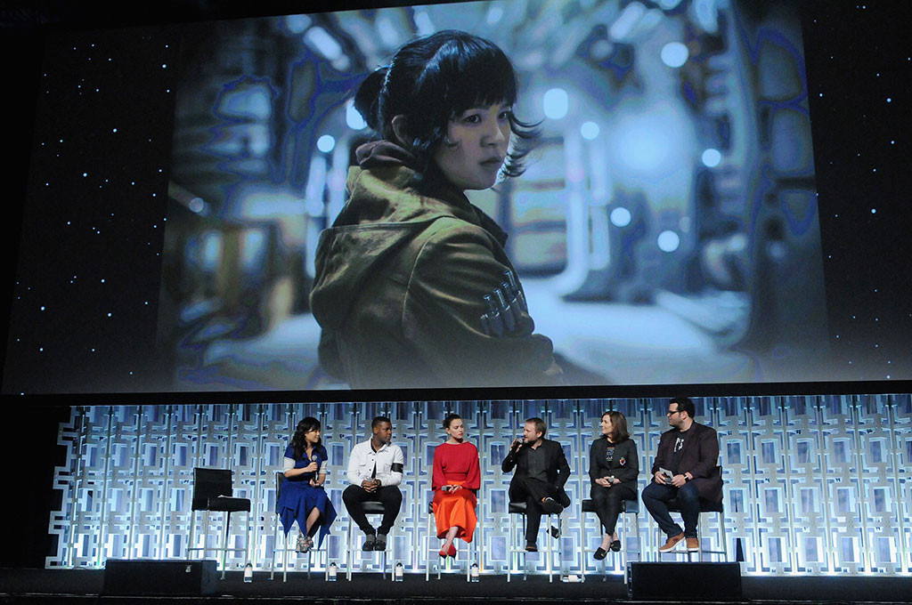 Kelly Marie Tran, John Boyega, Daisy Ridley, Rian Johnson, Kathleen Kennedy, Josh Gad, Star Wars Celebration