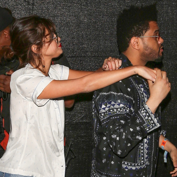 Selena Gomez and The Weeknd Can't Keep Their Hands Off Each Other at Coachella