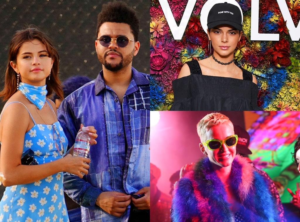 Selena Gomez, The Weeknd, Kendall Jenner, Katy Perry, Coachella 2017