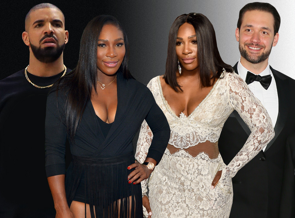 Serena Williams, Drake, Alexis Ohanian