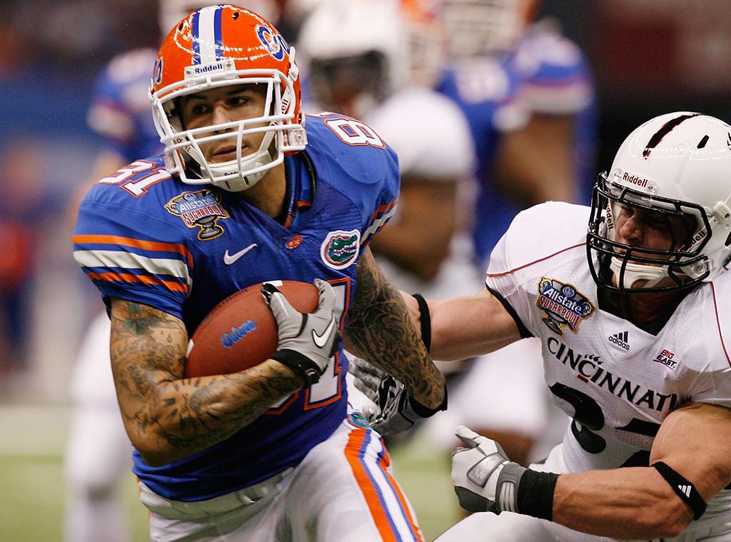 Aaron Hernandez, University of Florida, Football