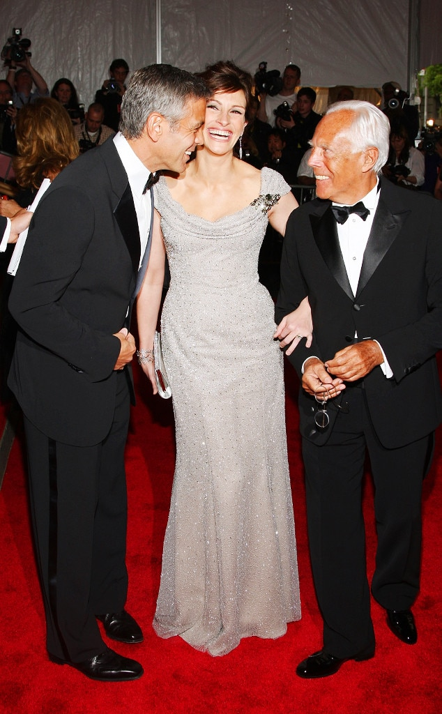 ESC: Julia Roberts, George Clooney and Giorgio Armani  May 2008 Met Gala