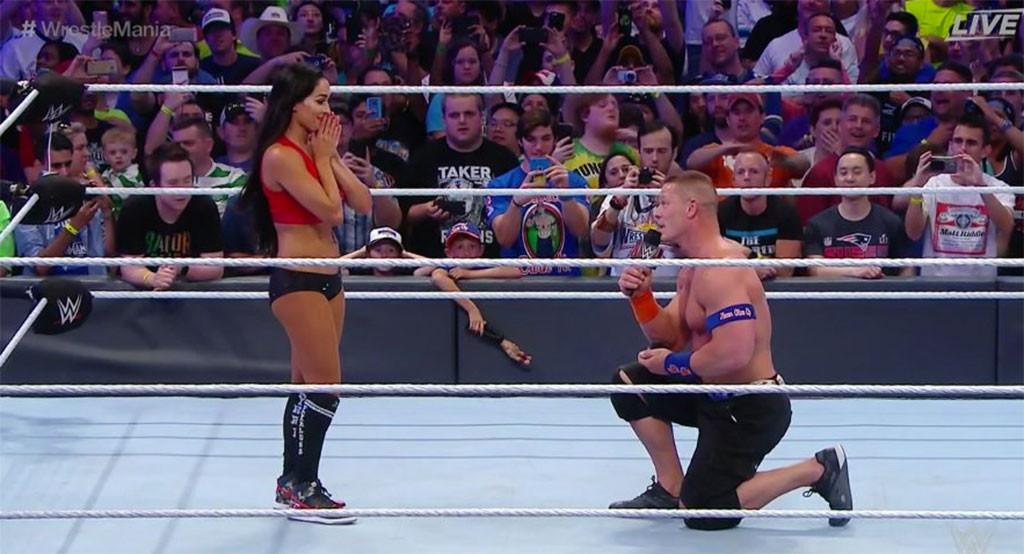 Nikki Bella, John Cena, Engagement
