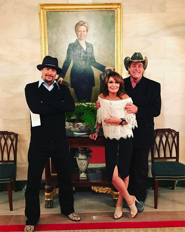 Sarah Palin, Ted Nugent, Kid Rock, Hillary Clinton Portrait