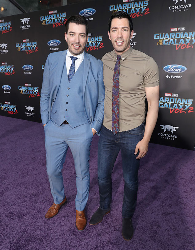 Jonathan Scott, Drew Scott, Guardians of the Galaxy Vol. 2 Premiere