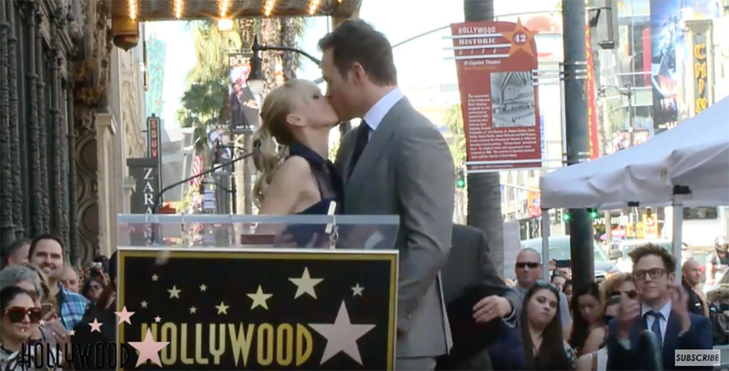 Chris Pratt, Anna Faris, Walk of Fame
