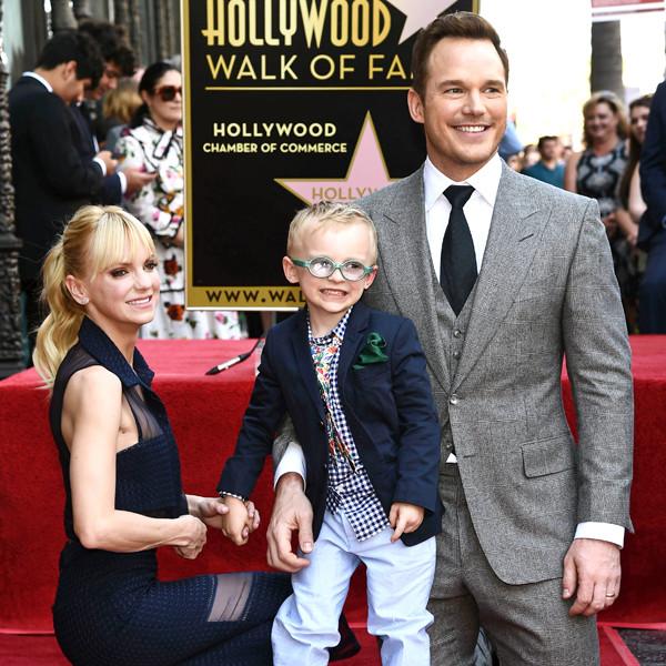 Chris Pratt, Anna Faris, Jack Pratt, Hollywood Walk of Fame