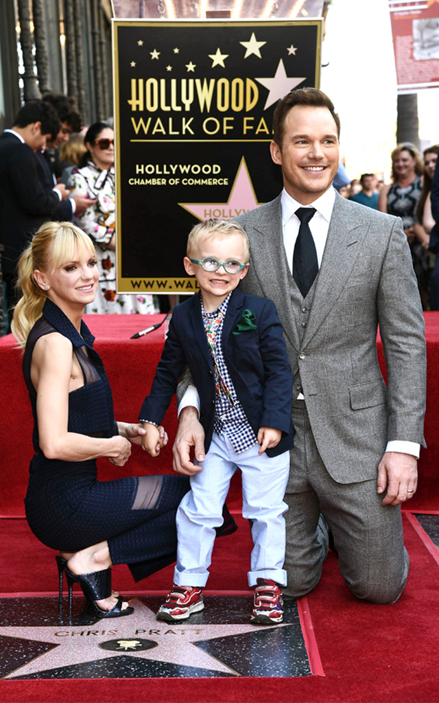 Chris Pratt, Anna Faris, Jack Pratt, Hollywood Walk of Fame