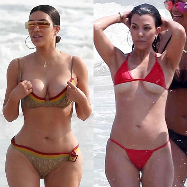 How that kim kourtney kardashian bikini