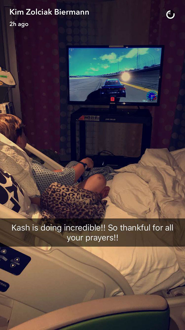 Kash Biermann, Snapchat, Hospital