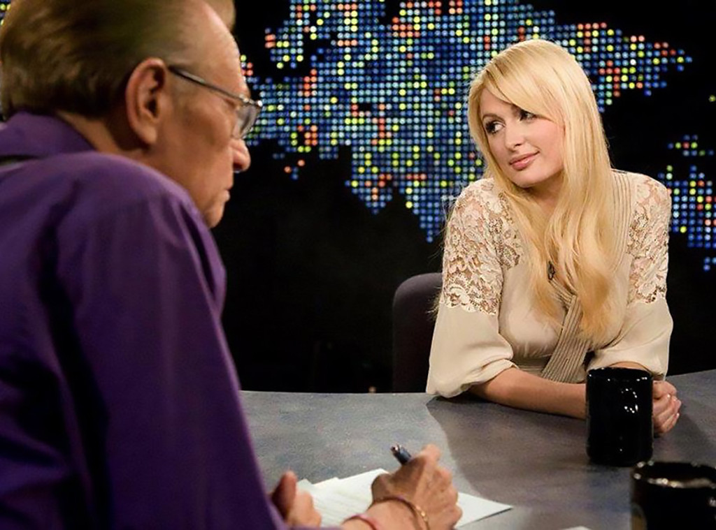 Paris Hilton, Larry King, CNN, 2007