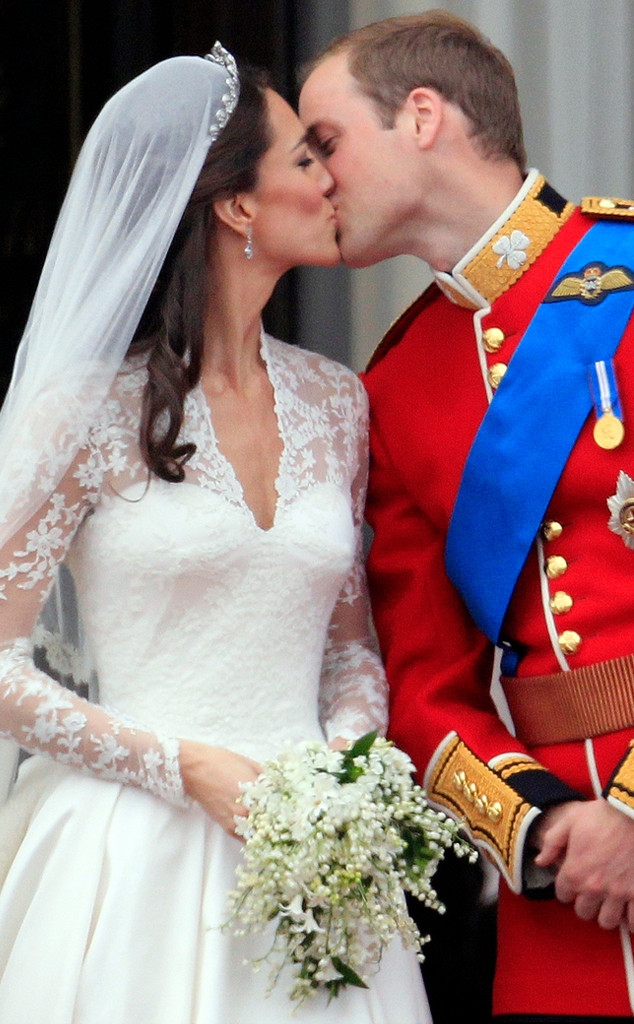 Prince William, Kate Middleton, Royal Wedding, Kiss