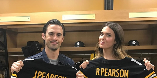 d6269e036 Mandy Moore and Milo Ventimiglia Bring This Is Us Charm to Pittsburgh and  Get a Special Gift | E! News