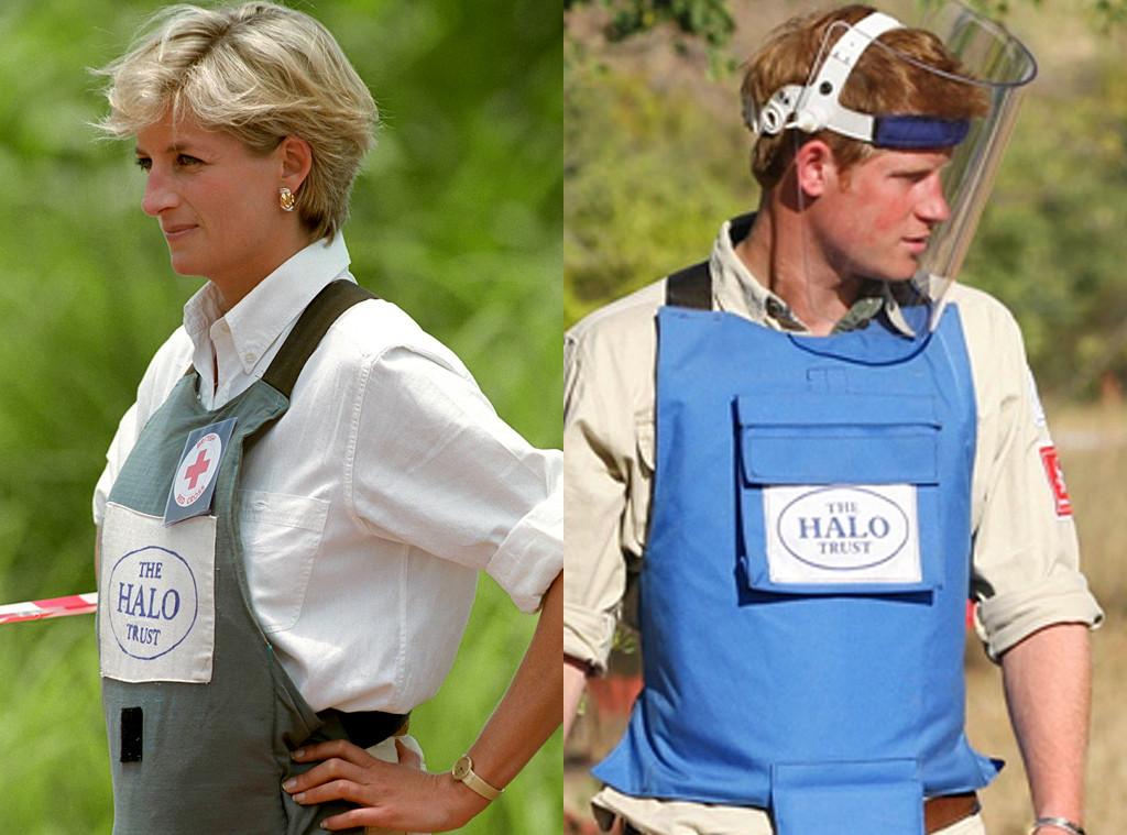 Princess Diana, Prince Harry, Angola