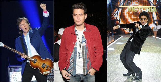 Paul McCartney, John Mayer, Bruno Mars