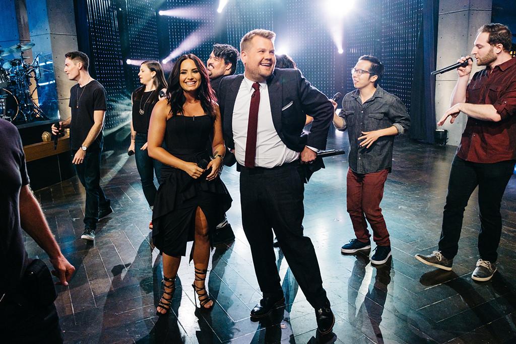 Demi Lovato, James Corden, The Late Late Show