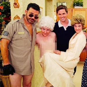 Jimmy Kimmel, Lena Dunham, Jemima Kirke, Zosia Mamet, Andrew Rannells, Allison Williams
