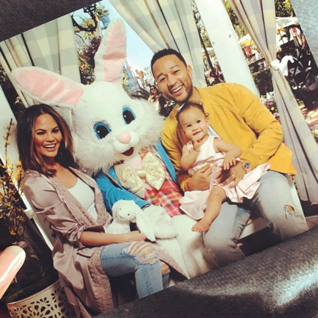 John Legend, Chrissy Teigen, Luna, Easter 2017