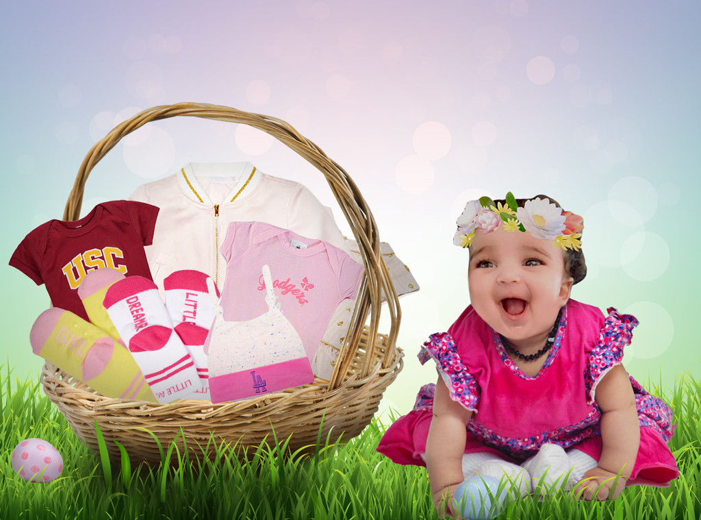 Celebrity Kids Easter Baskets, Dream Kardashian