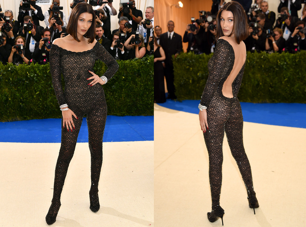 Bella Hadid Is Sexy As Hell In See Through Catsuit At The 2017 Met