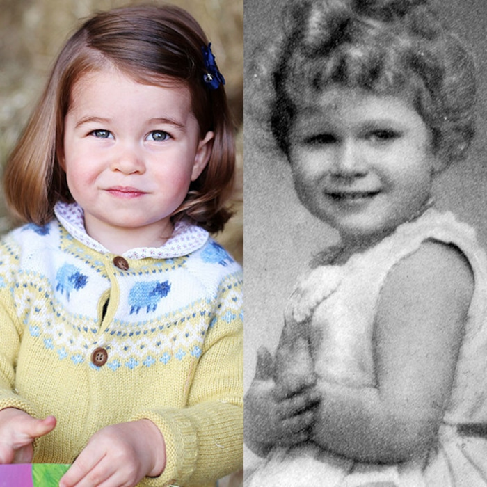 Does Princess Charlotte Look Like Queen Elizabeth Ii S Mini Me See All Of The Royal Comparisons E News