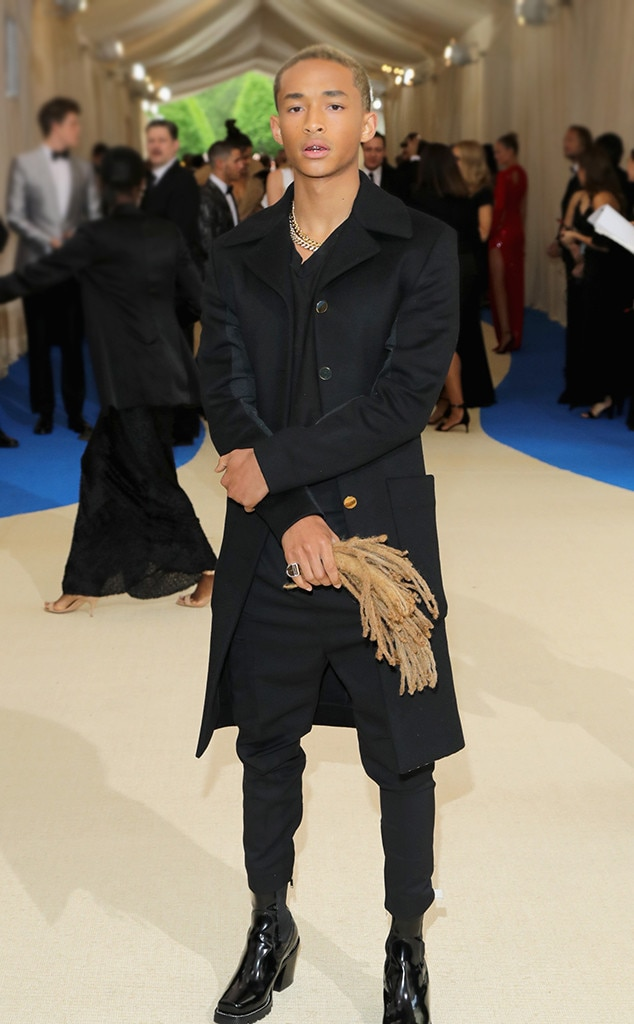 Hairy Plus-One - Jaden Smith redefined fearless fashion when his freshly chopped dreadlocks accompanied him to the Met Gala in 2017. The unlikely accessory not only raised eyebrows, but also became somewhat of a tradition for the rapper and son of Will Smith and Jada Pinkett Smith .
