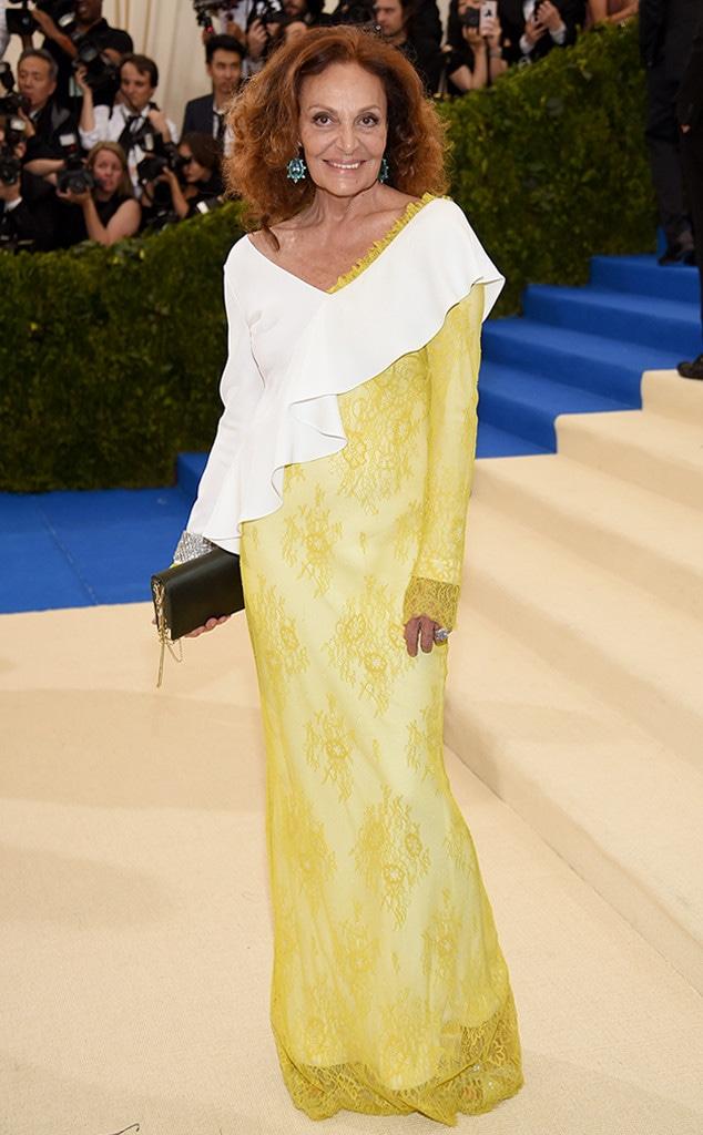 Diane von Furstenberg, 2017 Met Gala Arrivals