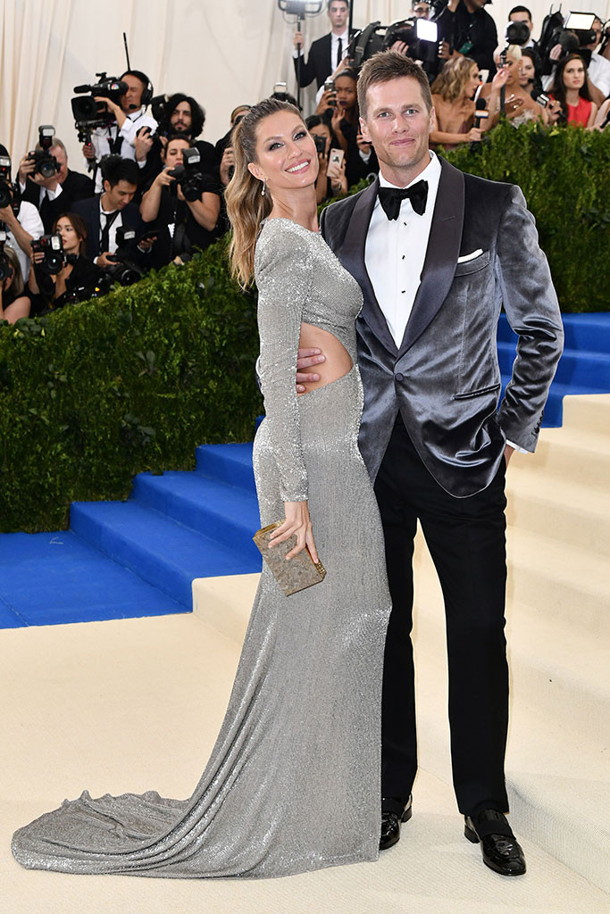 Tom Brady, Gisele Bundchen, 2017 Met Gala Arrivals, Couples