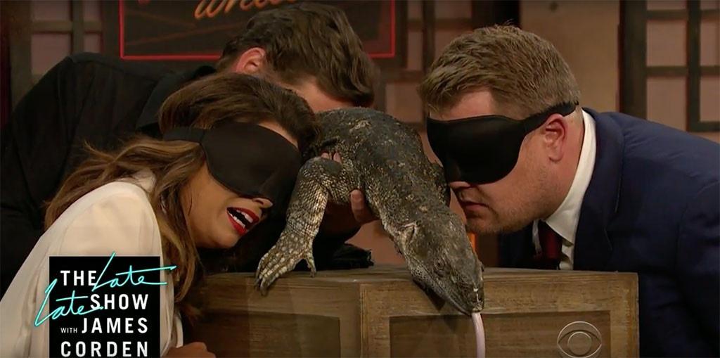 Eva Longoria, James Corden, Lizard