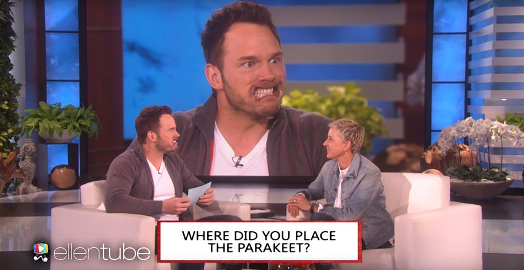 Chris Pratt, Ellen DeGeneres