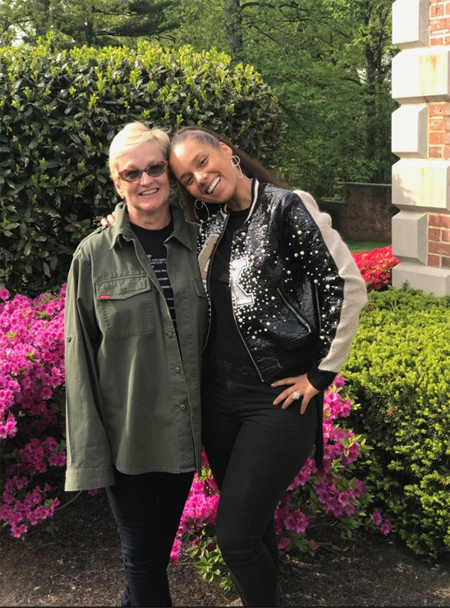 Alicia Keys Mother Terria From Stars Celebrate Mother S Day 2017