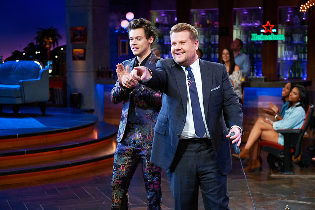 Harry Styles, James Corden, The Late Late Show