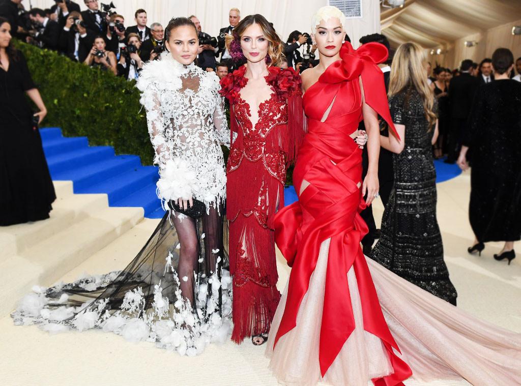 ESC: Chrissy Teigen, Georgina Chapman, Rita Ora, Met Gala 2017, Superlatives