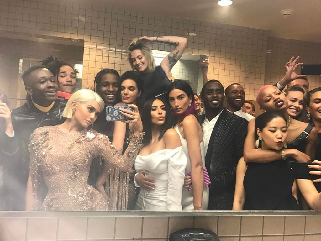 Rule Breakers -  What happens inside the Met Gala stays inside the Met Gala, or at least that was Anna Wintour 's goal when she banned selfies in 2015. But two years later, several attendees gathered in the bathroom to take this sneaky snapshot.