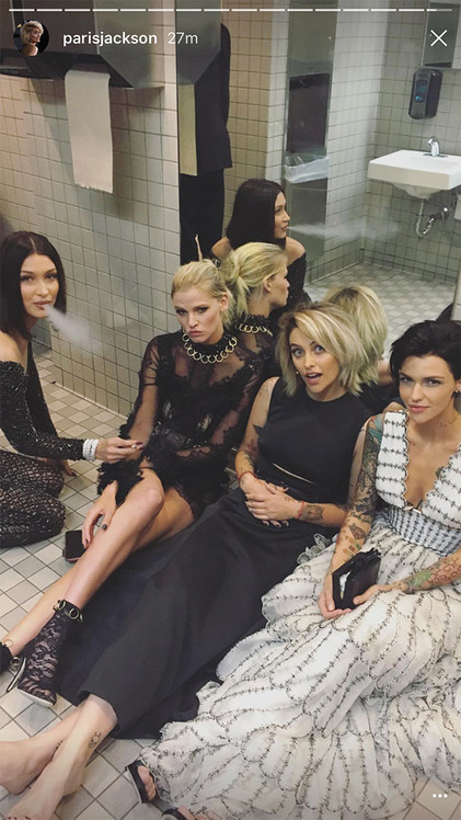 Bella Hadid, Ruby Rose, Paris Jackson, Lara Stone, 2017 Met Gala