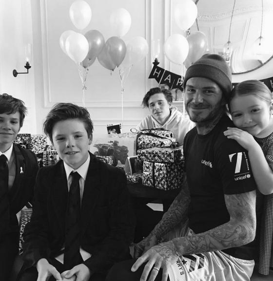 David Beckham, Brooklyn Beckham, Cruz Beckham, Romeo Beckham, Harper Beckham